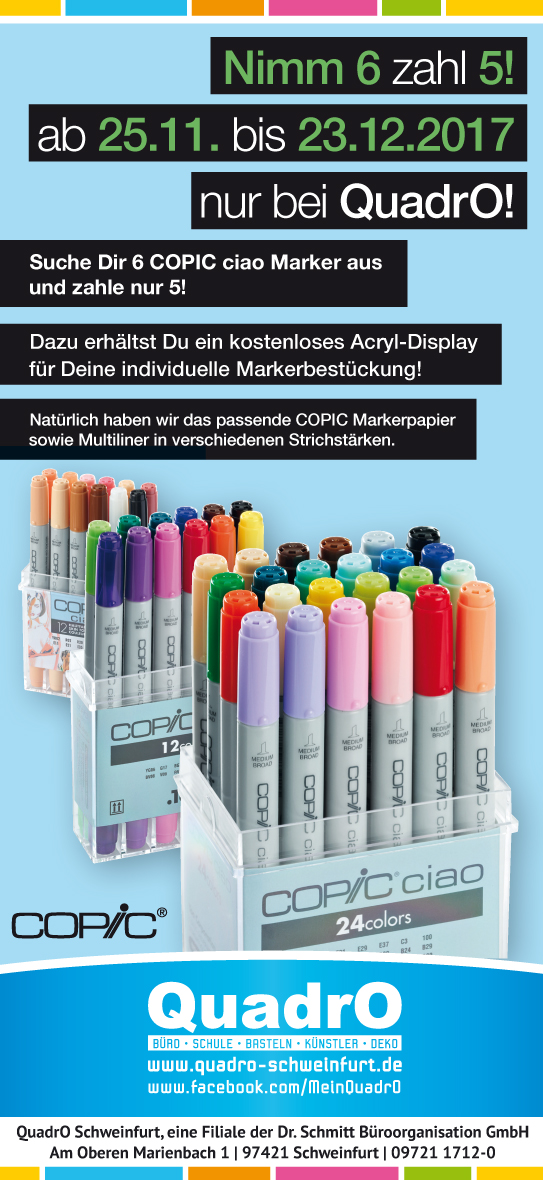 Copic, Ciao, Aktion, Nimm 6 zahl 5