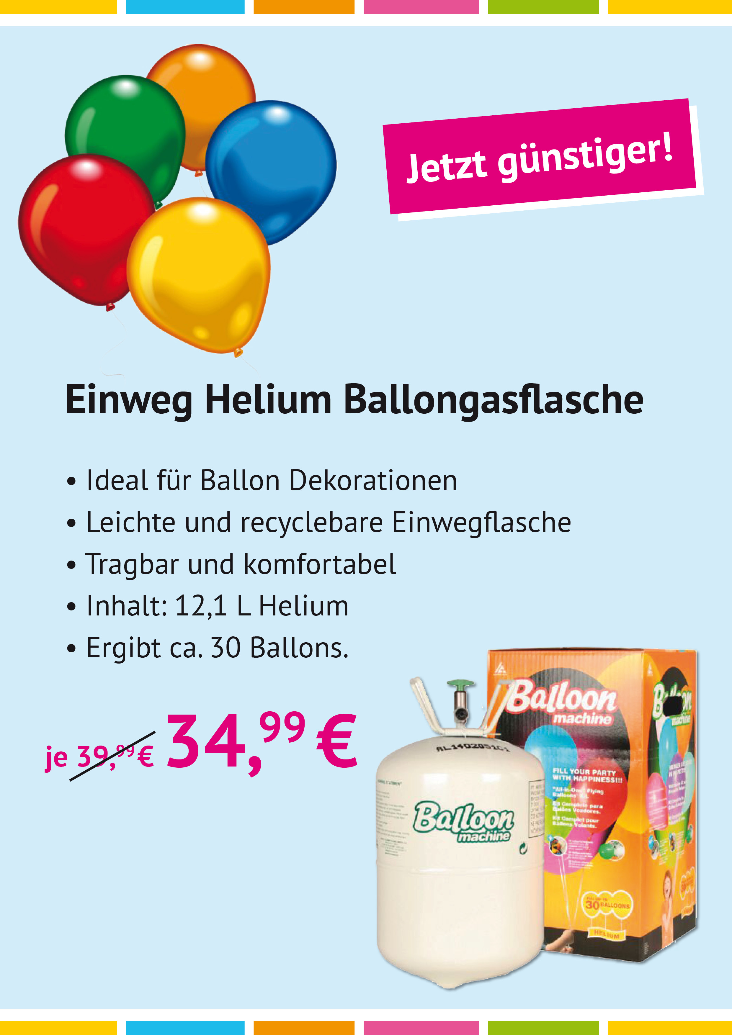 Helium, Ballons, Ballonmaschine, Amscan