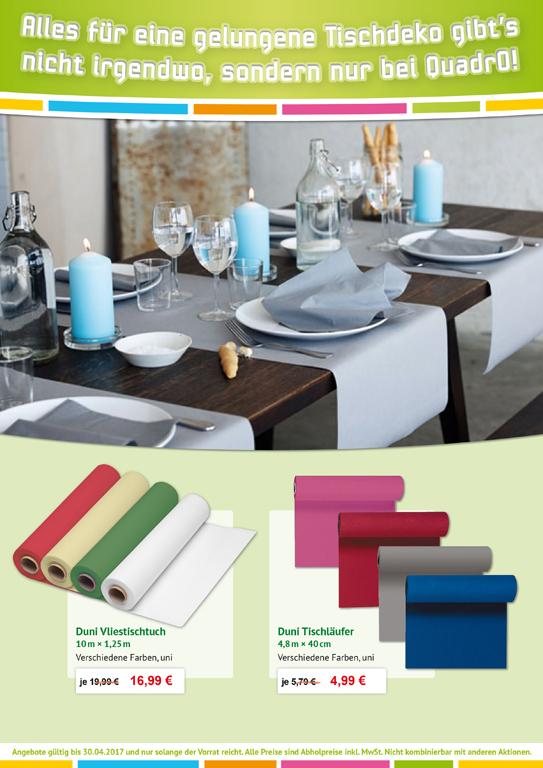 Angebot Duni Vliestischtuch, Tischläufer